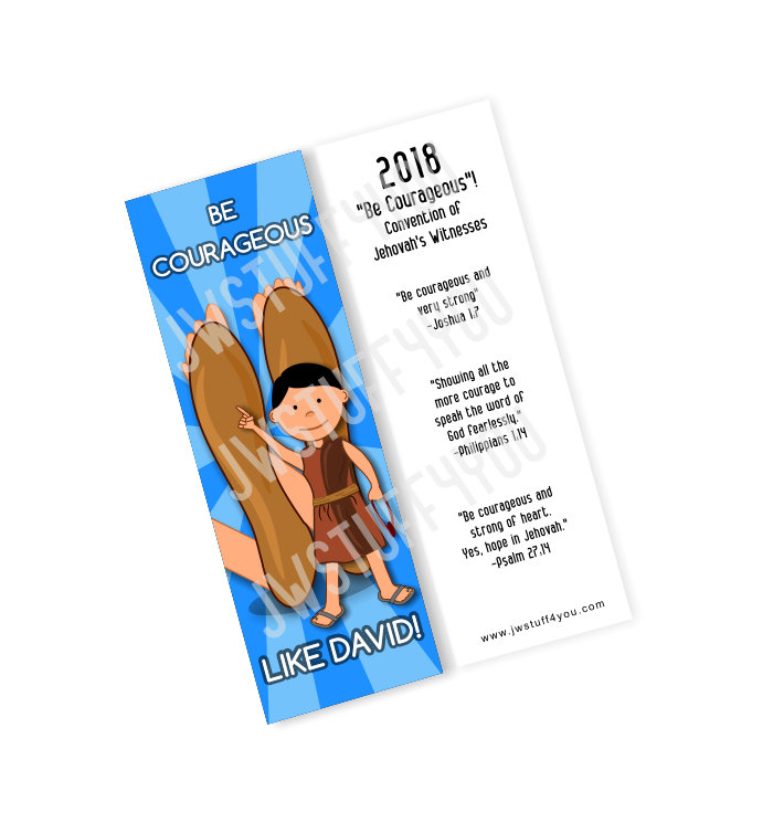 2018 Be Courageous Like David Convention Bookmark