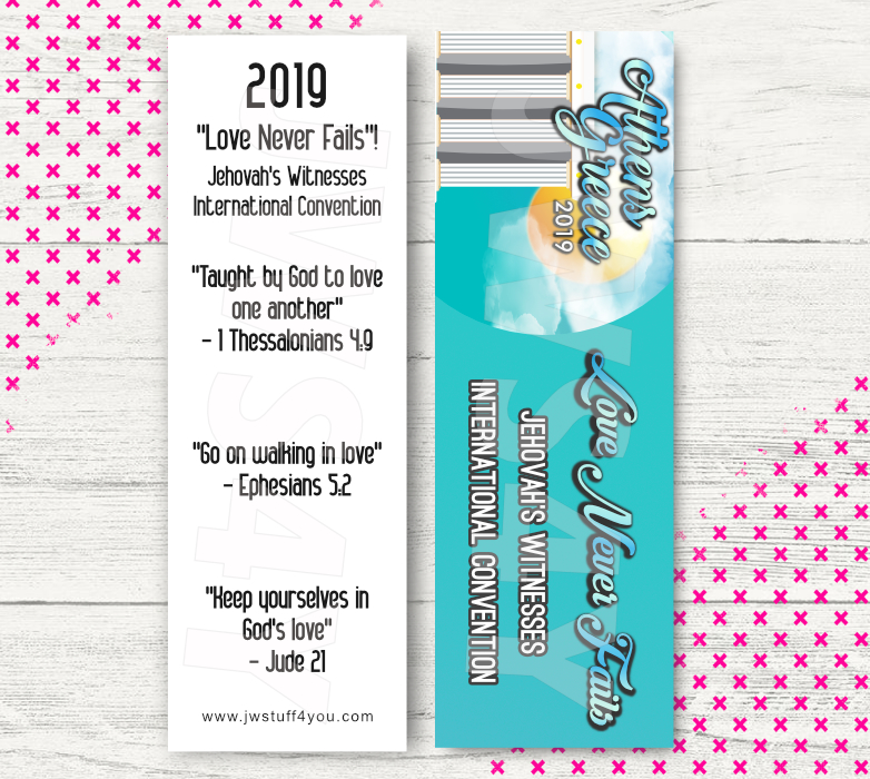 Love Never Fails Bookmarks | International Convention Gift | Athens