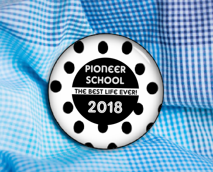 "JW Pioneer School 2.25"" Commemorative Button"