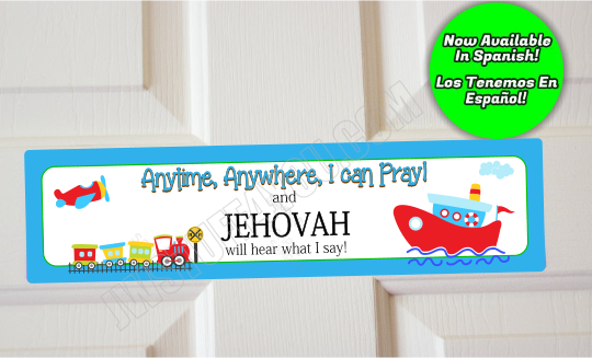 Anytime Anywhere I Can Pray Tug Boat Door Sign