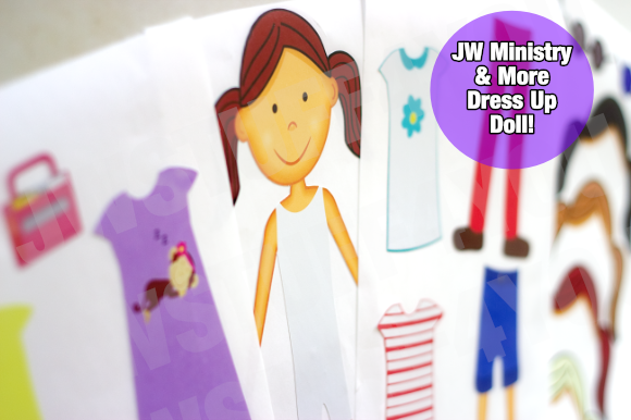 Girls - Dress Up Doll Stickers