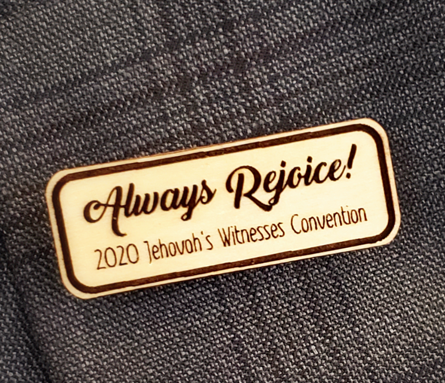 Always Rejoice 2020 Convention Pin Wooden - Basswood