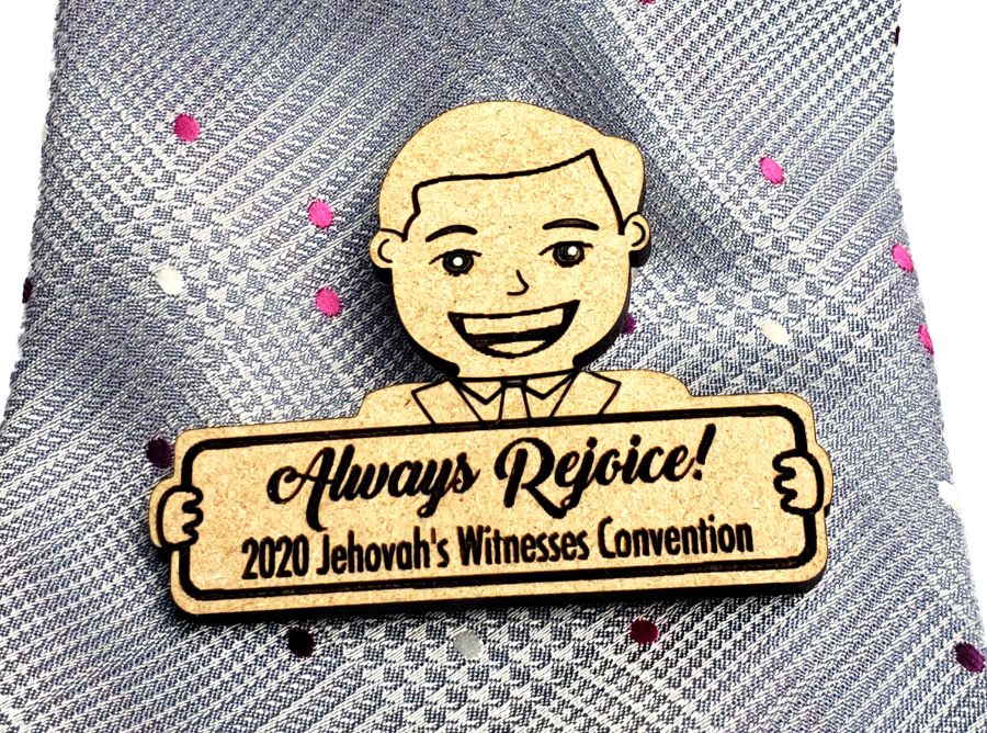 "Always Rejoice 2020 Pin Wooden - ""Caleb"""