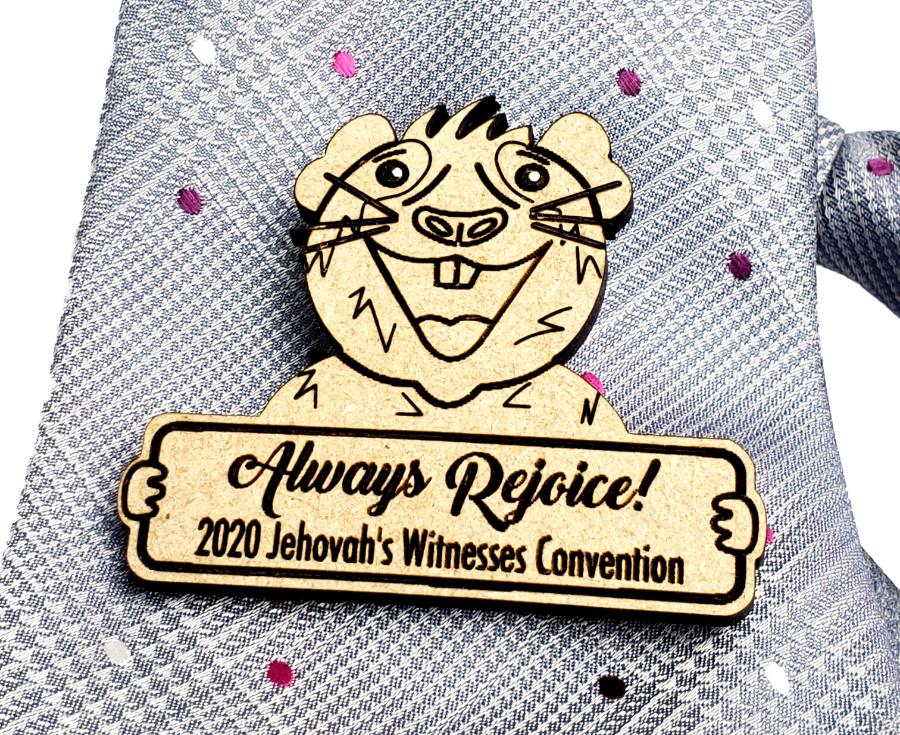 Always Rejoice 2020 Pin Wooden - Guinea Pig