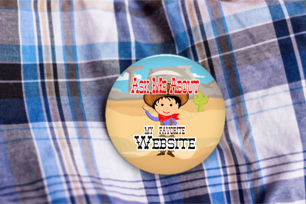 "Favorite Website Cowboy 2.25"" Button"