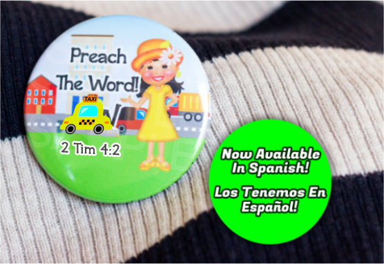 "Preach the Word 2.25"" Button - Girls"