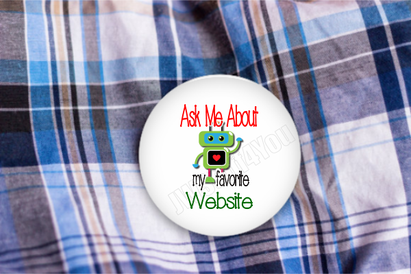 "Robot Favorite Website 2.25"" Button"
