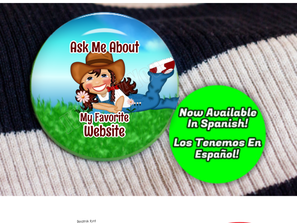 "Cowgirl Favorite Website 2.25"" Button"