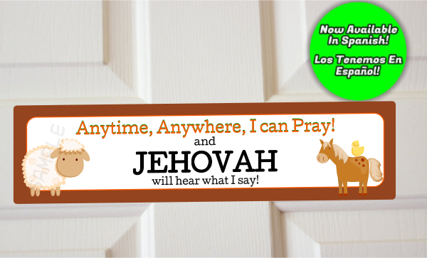 Anytime Anywhere I Can Pray Farm Animals Door Sign