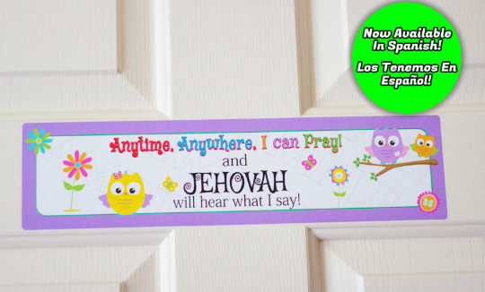 Anytime Anywhere I Can Pray Owl Door Sign
