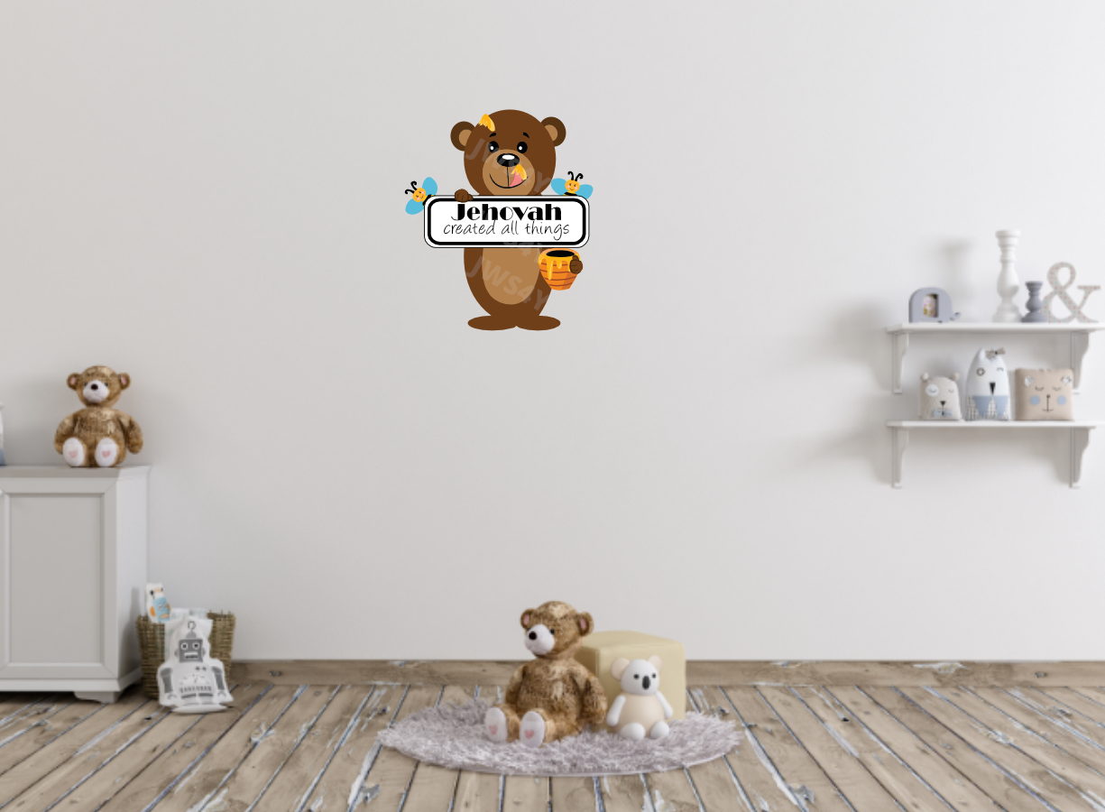 Jehovah Created All Things Jehovah's Friend Wall Decal - Bear